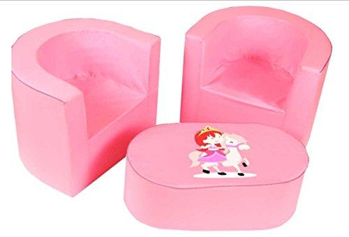 Kindermbel-2-x-Cocktailsessel-Sessel-Hocker-Tisch-Prinzessin-Pony-3-teilig-100-Baumwolle-Coton-Waschbar-Produkt-aus-EU