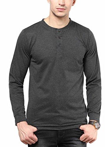 IZINC-Mens-Button-Front-Cotton-Henleys