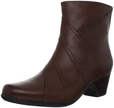 Clarks Women's Leyden Candle Ankle Boot,DarkBrown,6 M US