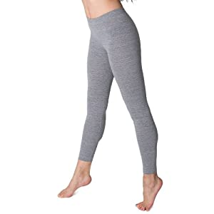 American Apparel Cotton Spandex Jersey Legging - Athletic Grey / L