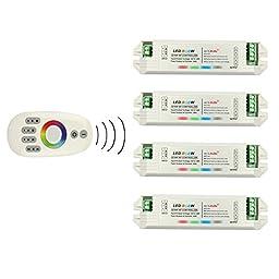 Miyole 4 Zone 2.4G RF Remote 4 RGBW LED Controller 4 Channel RGBW