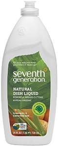 Seventh Generation Dish Liquid Lemon Grass Zest 739 ml