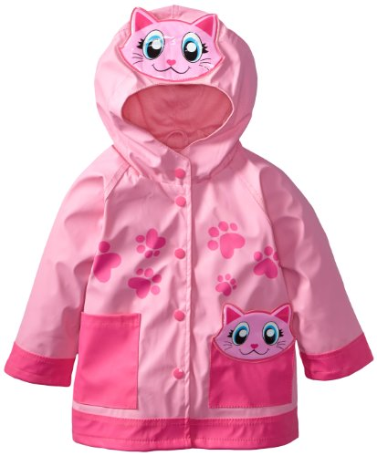 Western Chief Little Girls' Kitty Rain Coat, Pink, 4/5 front-912100