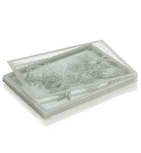 4 frost glass placemats m s for Glass table placemats