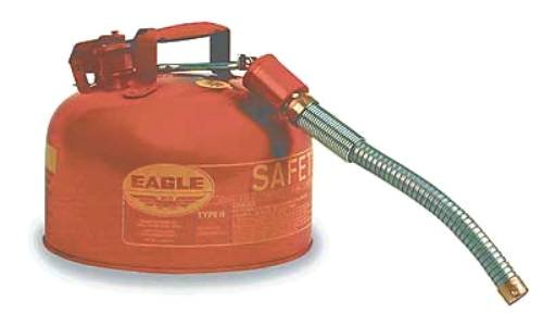 Eagle U2-26-S Red Galvanized Steel Type II Gas Safety Can with 7/8