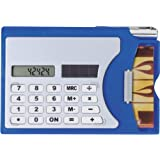 Calculator with Business Card Case and Pen