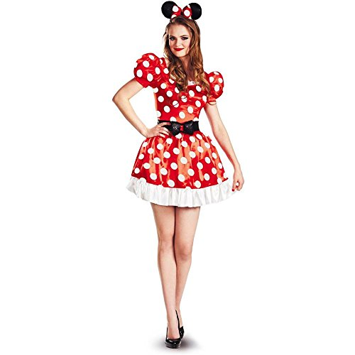 Red Minnie Mouse Classic Adult Costume