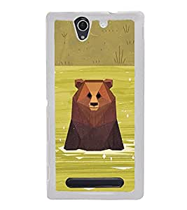 Bear in River 2D Hard Polycarbonate Designer Back Case Cover for Sony Xperia C3 Dual :: Sony Xperia C3 Dual D2502
