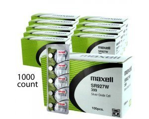 1000 pcs Maxell SR927W SR57 399 SG7 Silver Oxide Watch Battery