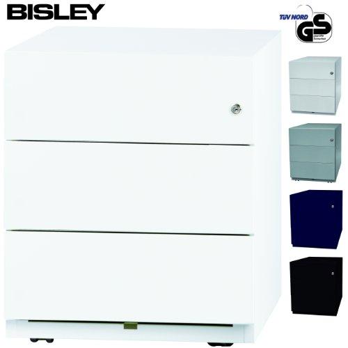 BISLEY-Rollcontainer-mit-3-Schben-Brocontainer-aus-Metall-abschliebar-Tischcontainer-mit-Rollen-TV-GS-geprft-in-4-Farben-Verkehrswei