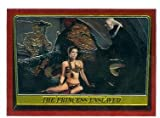 Jabba the Hut and Princess Leia trading card 1999 Star Wars Topps Chrome Archives #64 Return of the Jedi Slave Girl Outfit