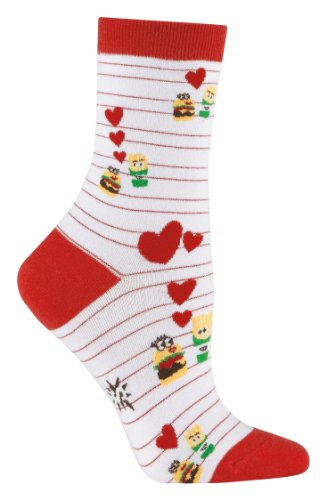 Sock It To Me Burger <3 Fries Womens Crew Socks