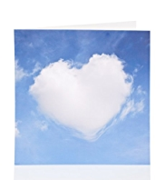 Heart Cloud Blank Card