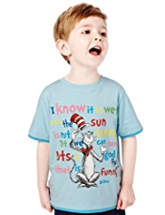 Pure Cotton Cat in the Hat T-Shirt with StayNEW™