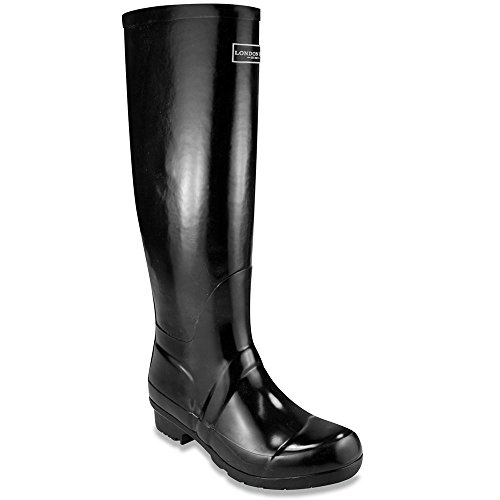 London Fog Thames Women's Boot 7 B(M) US Black (Knee High Rain Boots For Women compare prices)