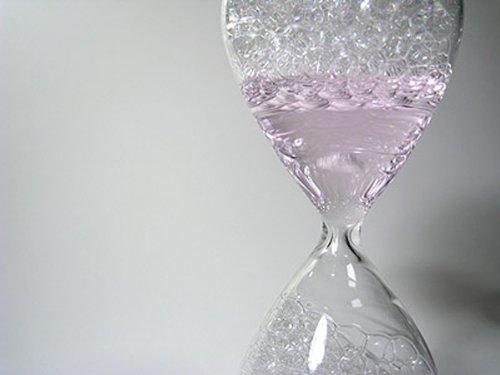 awaglass 泡時計 レギュラー ピンク