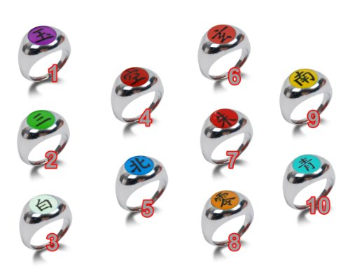 Naruto Asatsuki Cosplay Full Rings Set 10 Pieces - 1
