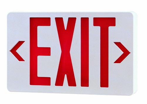 Royal Pacific RXL5RW-SD LED Exit Sign, Self Diagnostic, White with Red Letters