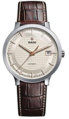 Rado Centrix Automatic Silver Dial Brown Leather Mens Watch R30939125