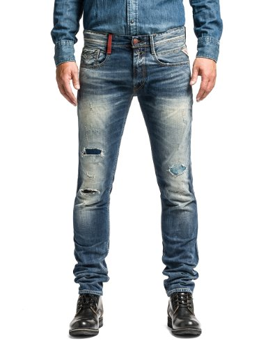 Replay Herren Tapered Jeanshose Anbass M914