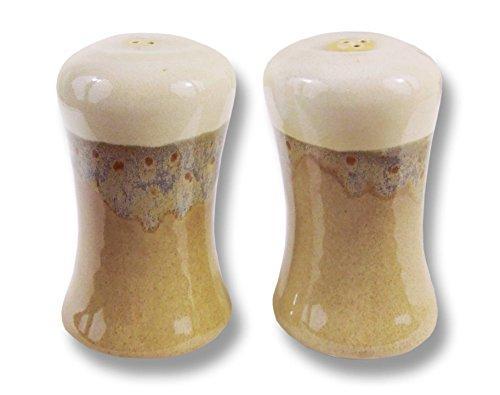 Clay In Motion Handmade Ceramic Salt & Pepper Shaker Set - Desert Sand