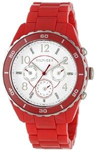 Tommy Hilfiger 1781094 - Reloj de pulsera mujer, acero inoxidable, color rojo