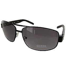 Guess Men GU6714 Aviator Fashion Sunglasses, Black/Grey Gradient