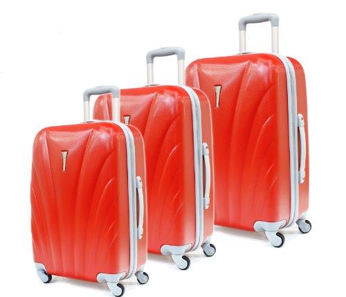 3-tlg. Kofferset, Modell 8602, Viviana, Rot