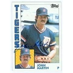 John Martin autographed baseball card (Detroit Tigers) 1984 Topps #24