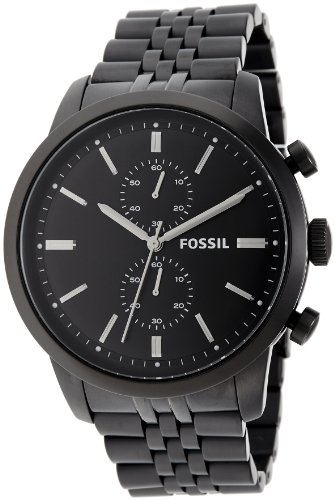 Fossil Men's FS4787 Townsman Analog Display Analog Quartz Black Watch