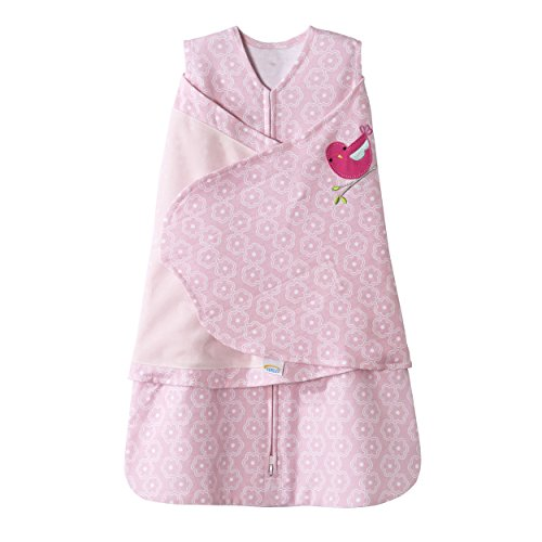 Halo Sleepsack 100% Cotton Swaddle, Pink Floral, Small - 1
