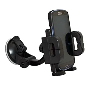 Xenda 360 degree Rotatable Universal Car Mount Windshield Cell Phone Holder Stand for T-Mobile Samsung Galaxy S 2 SGH-T989 - Samsung Gravity Smart - Samsung T159 - Samsung Smiley T359