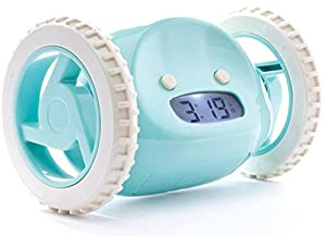 Clocky Alarm Clock on Wheels in Aqua [Kitchen