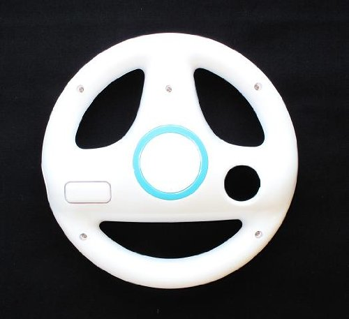 NEW! STEERING WHEEL FOR Wii MARIO KART RACING GAME WHITE