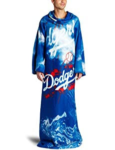 MLB Los Angeles Dodgers Comfy Throw Blanket with Sleeves