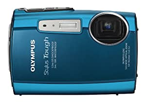 Olympus Stylus Tough 3000 12 MP Digital Camera with 3.6x Wide Angle Zoom and 2.7-inch LCD (Blue) (Old Model)