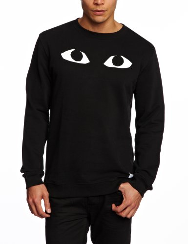 A Question Of Eyes Men's Sweatshirt Black X-Large