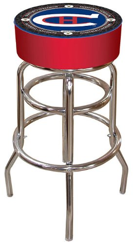 NHL Montreal Canadiens Padded Throwback Bar Stool