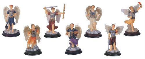 3 Inch Archangel Set Collection Holy Figurine Religious Decoration