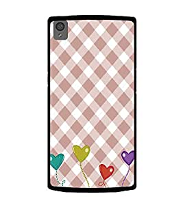 Hearts Pattern 2D Hard Polycarbonate Designer Back Case Cover for OnePlus X :: One Plus X :: One+X