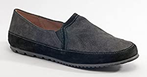 French Sole Women's Tangible Grey with Black Flat 6B