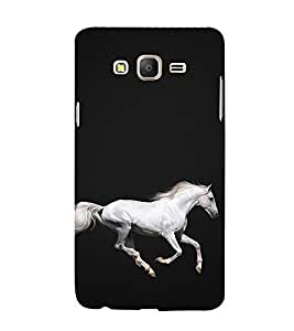 White Horse 3D Hard Polycarbonate Designer Back Case Cover for Samsung Galaxy On7 :: Samsung Galaxy On 7 G600FY