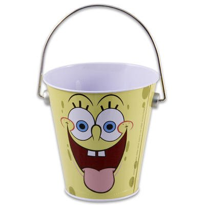 SPONGEBOB SMALL TIN BUCKET with Handle