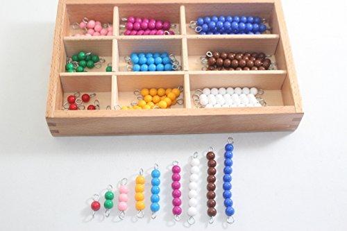モンテッソーリ 色ビーズ 箱入りセット Montessori Color Bead Box 知育玩具