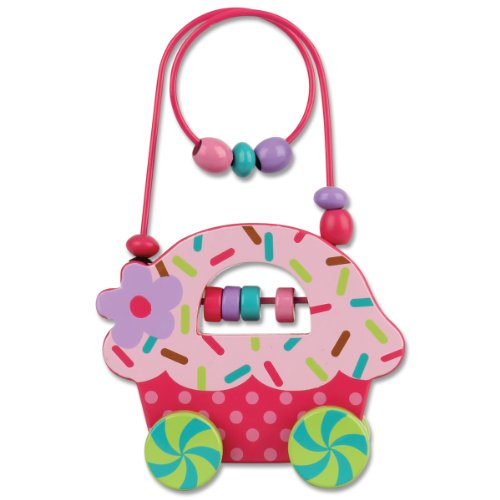 Stephen Joseph Cupcake Rolling Wire and Bead Toy