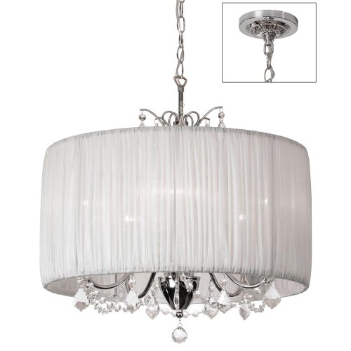 Dainolite Lighting VIC205CPC319 5 Light Crystal Large Pendant, Polished Chrome