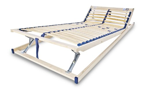 MSS® Lattenrost Komfort KF, Gr. 120 cm x 200 cm, Kopf- und Fußteil verstellbar, 28 Leisten, 5-fache Härtegradverstellung