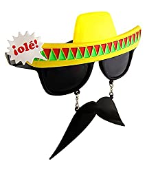 SNB Sun-Stache Fiesta Sunglasses For Parties (assorted color)