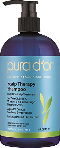 PURA D'OR Scalp and Dandruff Therapy Shampoo with Argan Oil and Tree Tea, 16 fl. oz (Pur Dor Shampoo compare prices)