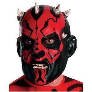 Darth Maul Mask Adult Star Wars Costume Halloween Fancy Dress (Darth Maul Face Paint)